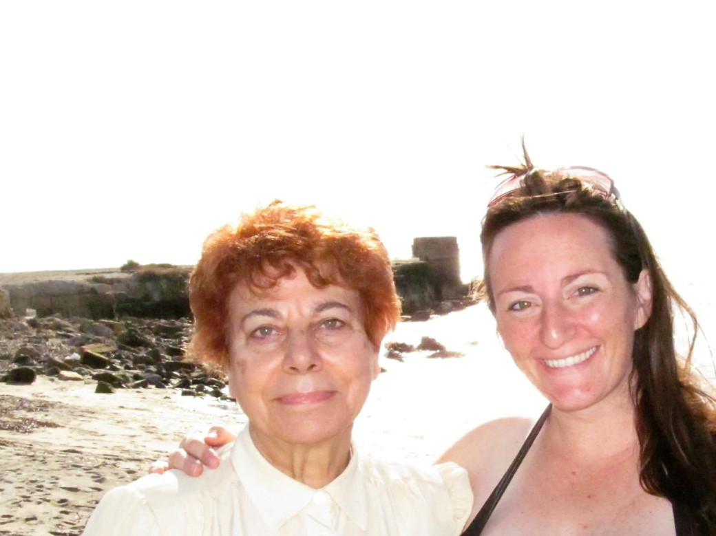 Rita and Me on the beach in Italy